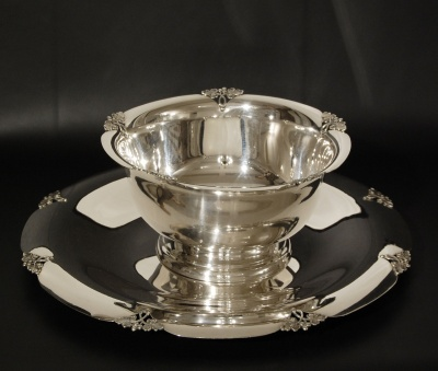 Silver Bowl and Tray