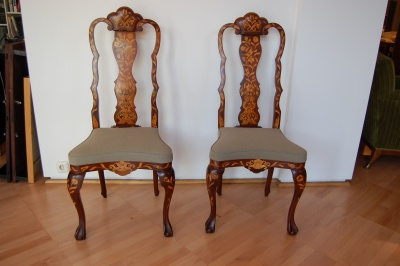 Pair of neo-baroque chairs