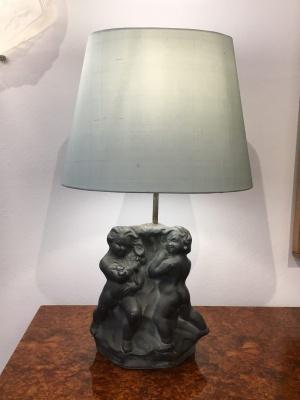 Skulpturale Tischlampe