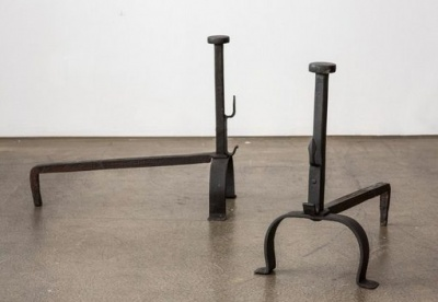 Wrought-iron fireplace andirons