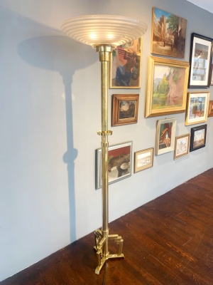 Brass-Floorlamp