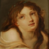 Portrait of the young woman from the painting 'The morning prayer'