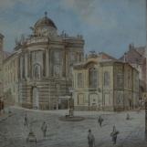 Michaelerplatz with view to the Hofburg, Vienna