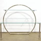 Arc-shaped shelf