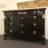 Ebonized Empire chest of drawers