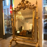 French standing mirror in the style of Rococo